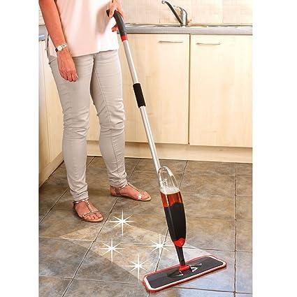 TQWMU� Multifunctional 2 in 1 Magic Spray Mop Premium Quality Microfiber Pad Floor Clean Mop