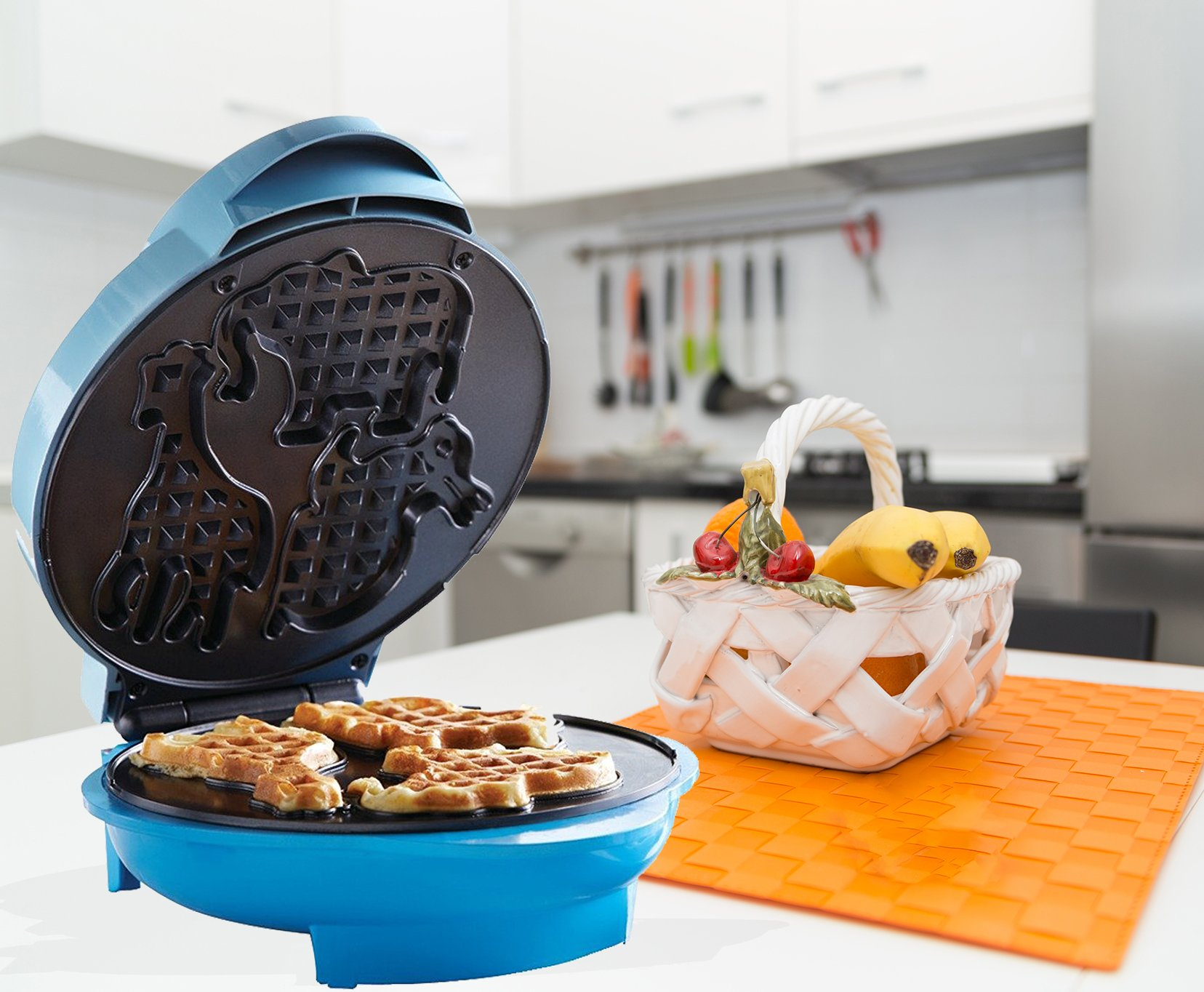 Premium Waffle Fun Animal Shapes Maker Electric Food Breakfast