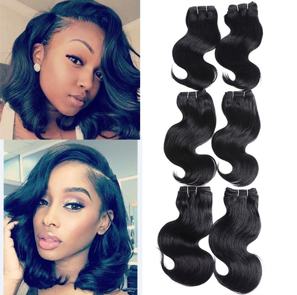 6 Bundles Body Wave Virgin Hair Extension 50g/pcs Natural hair Unprocessed Virgin Weave