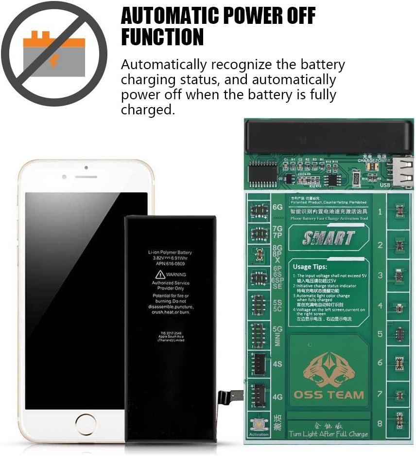 Universal Charge Activation Platine Batterie Schnellladung Aktivierungsplatine Test Fixture Kit mit Automatischer Abschaltfunktion und LED Dual Visual Display f/ür iOS//Android Telefon