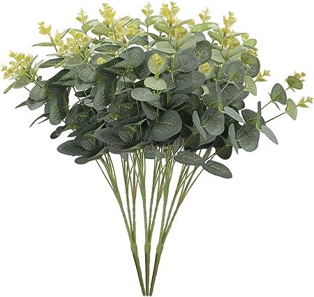 Lot de 3 artificiel Vert Flora Eucalyptus Bush 50 cm-Feuillage Faux Plantes