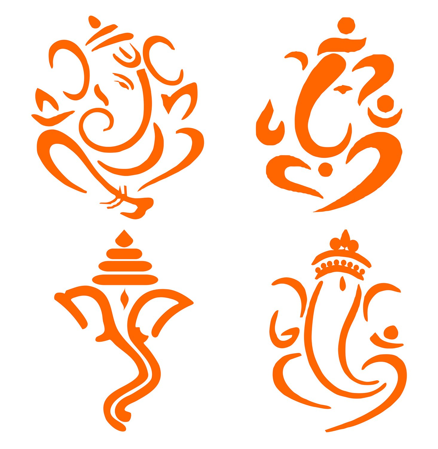 Idesign orange lord ganesh sticker for car scooter and bikes amazon in car motorbike