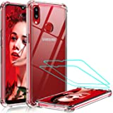 LeYi Compatible with Samsung Galaxy A10S Case, Samsung A10S Case with 2 Glass Screen Protector, Shockproof Crystal Clear Hard