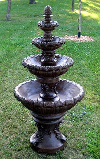 7u0027 Concrete French Quarter 4 Tier Outdoor Garden Water Fountain