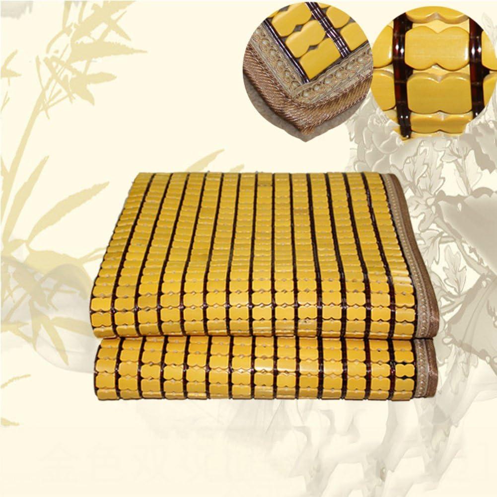 LJ&XJ Foldable Cooling Summer Sleeping pad Mattress,Durable carbonized Mahjong Bamboo mat Smooth Dormitory Mattress top mat-Twin & Full & Queen & King-L King