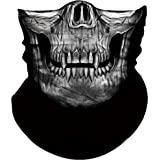 Obacle Skull Mask for Men Women Skull Bandana Skull Half Face Mask 3D Tube Mask Headwear Breathable Sun Mask for Fishing Running Hunting Cycling Motorcycle Bike Hiking Climbing Festival Outdoor Sports