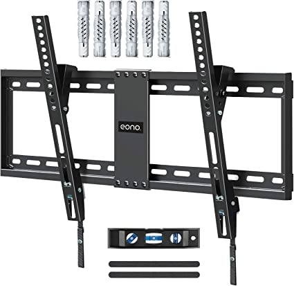 Eono by Amazon - Soporte TV Pared Inclinable, Soporte de Televisión para Muchos 37-70 Pulgadas LED, LCD, OLED y Plasma Televisores de hasta VESA 600x400mm y 60kg, con Tacos Fischer, PL2268-LK: Amazon.es: