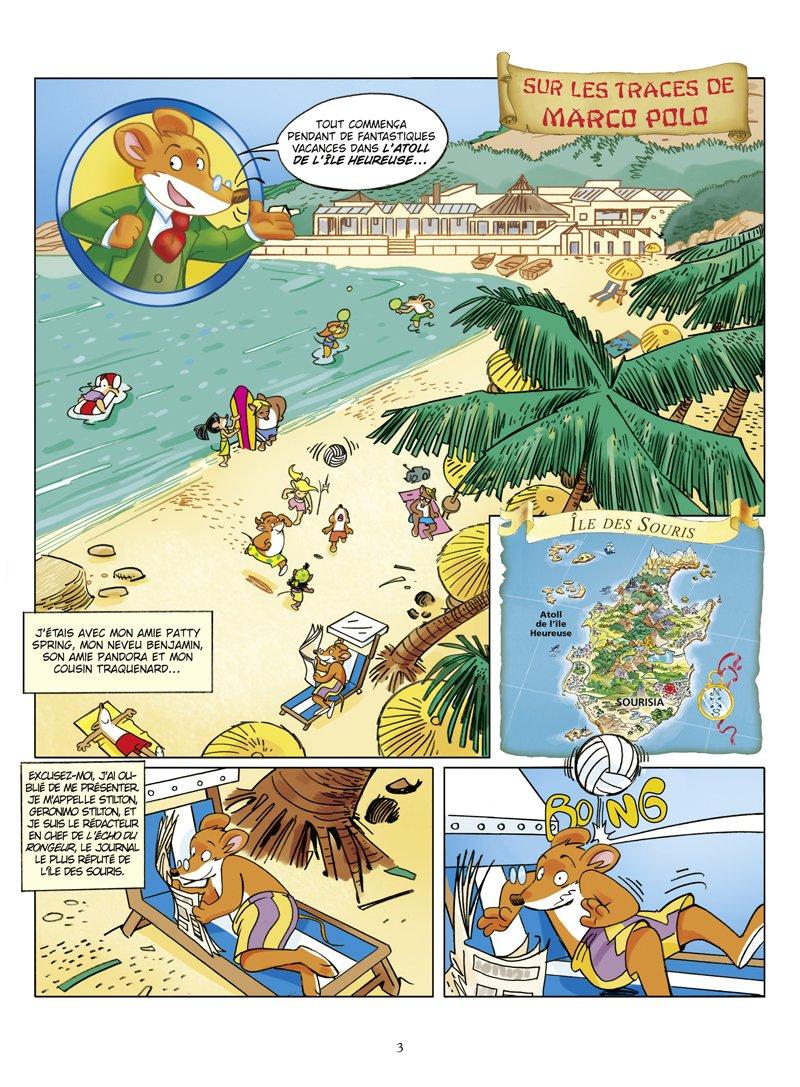 Geronimo Stilton - Tome 03: Sur les traces de Marco Polo Jeunesse ...