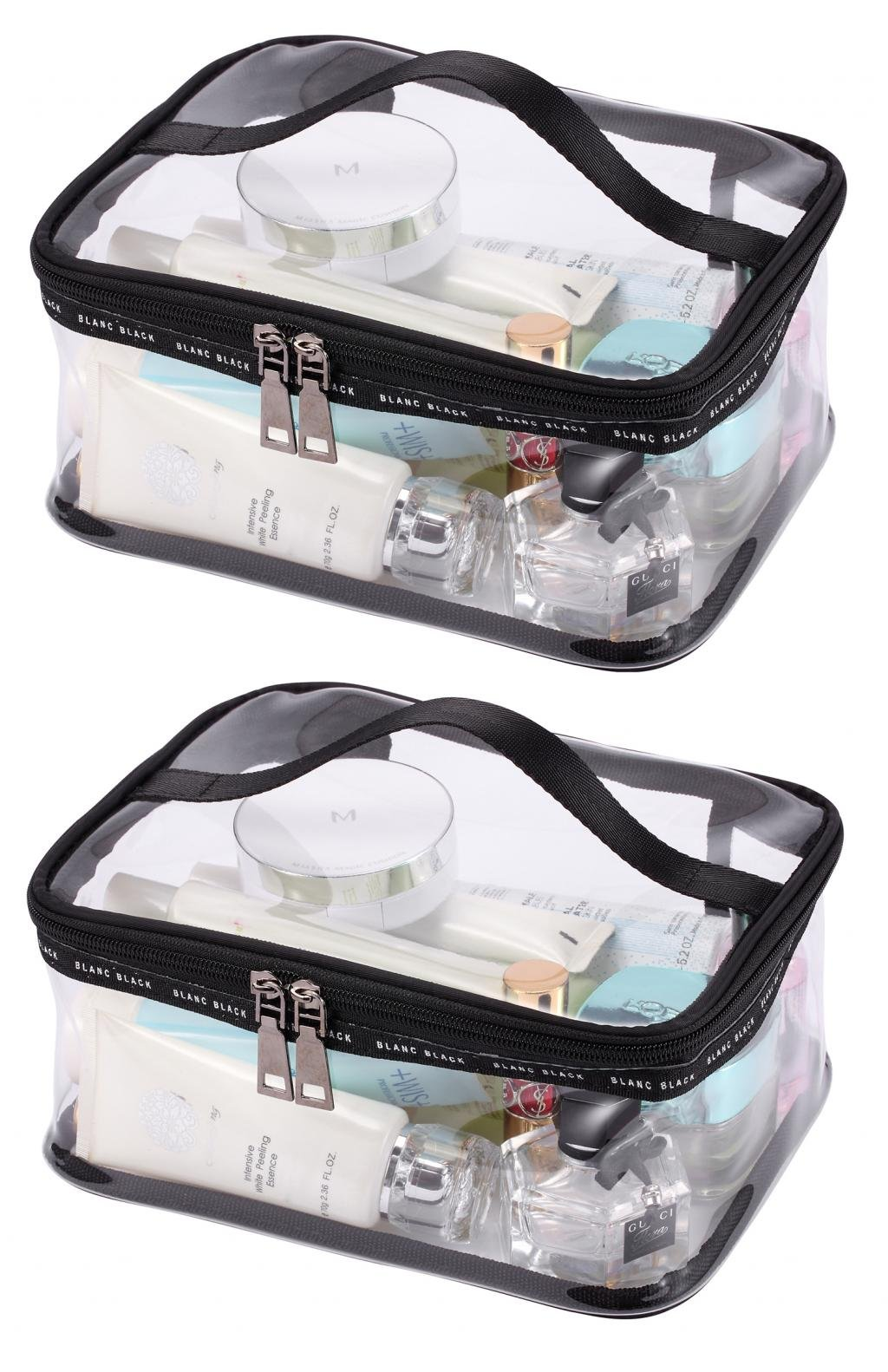 LOUISE MAELYS Portable Clear Makeup Bag Zipper Waterproof Transparent Travel Storage Pouch Cosmetic Toiletry Bag With Handle by Louise Maelys