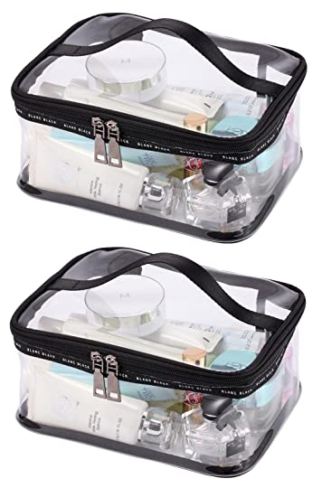 fb261b34a2f9 LOUISE MAELYS Portable Clear Makeup Bag Zipper Waterproof Transparent  Travel Storage...