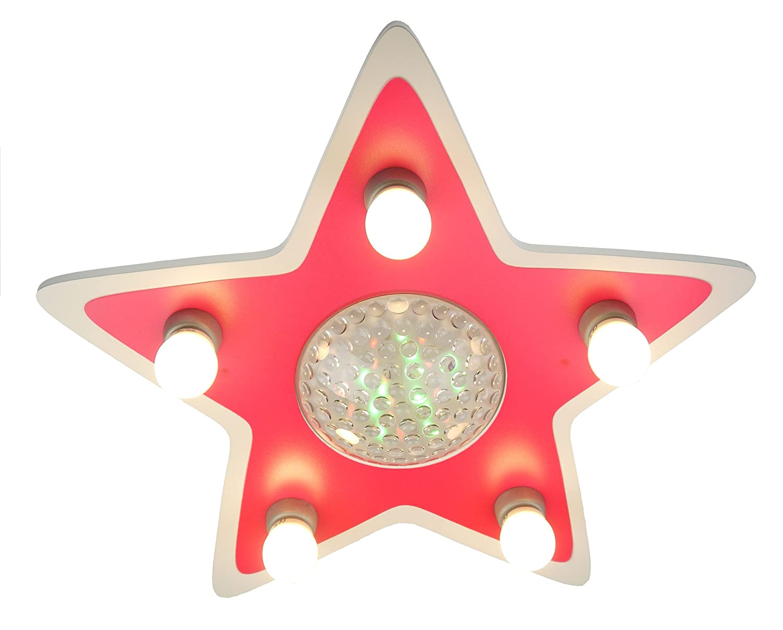 4-farbig mit Fernbedinung 777 Niermann Standby Deckenleuchte Happy-Star