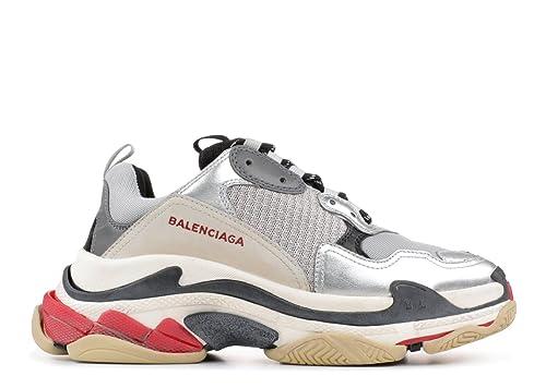 Balenciaga Triple S Sneakers Metallic Silver Unisex Hombre Mujer Balenciaga Zapatillas: Amazon.es: Zapatos y complementos