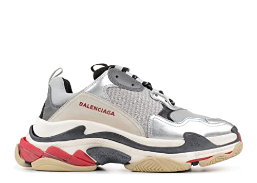 f9923a897d Balenciaga Triple S Sneakers Metallic Silver Uomo Donna Scarpe da Basket