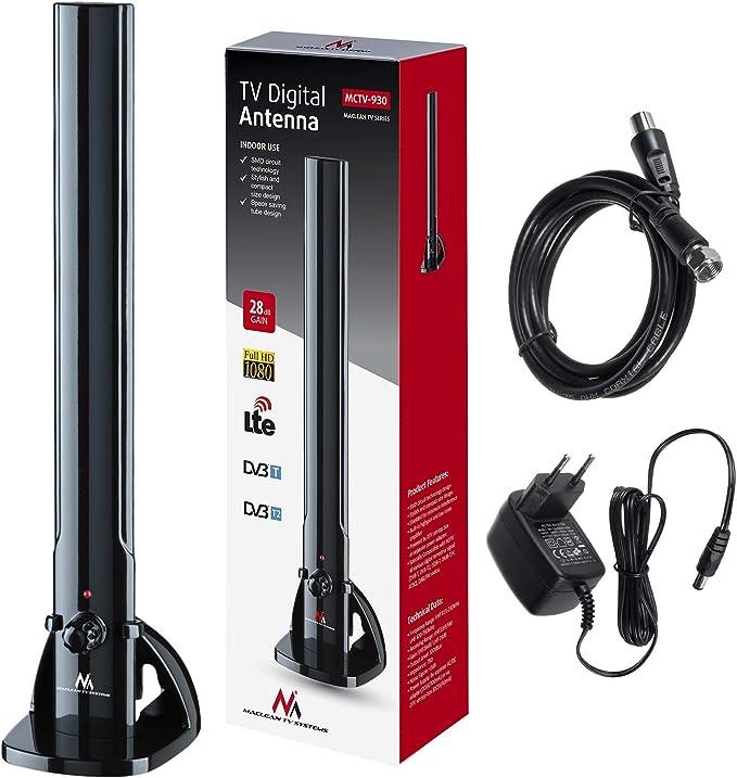 Maclean MCTV-930 - Antena para televisión (HDTV, DVB-T2 ...