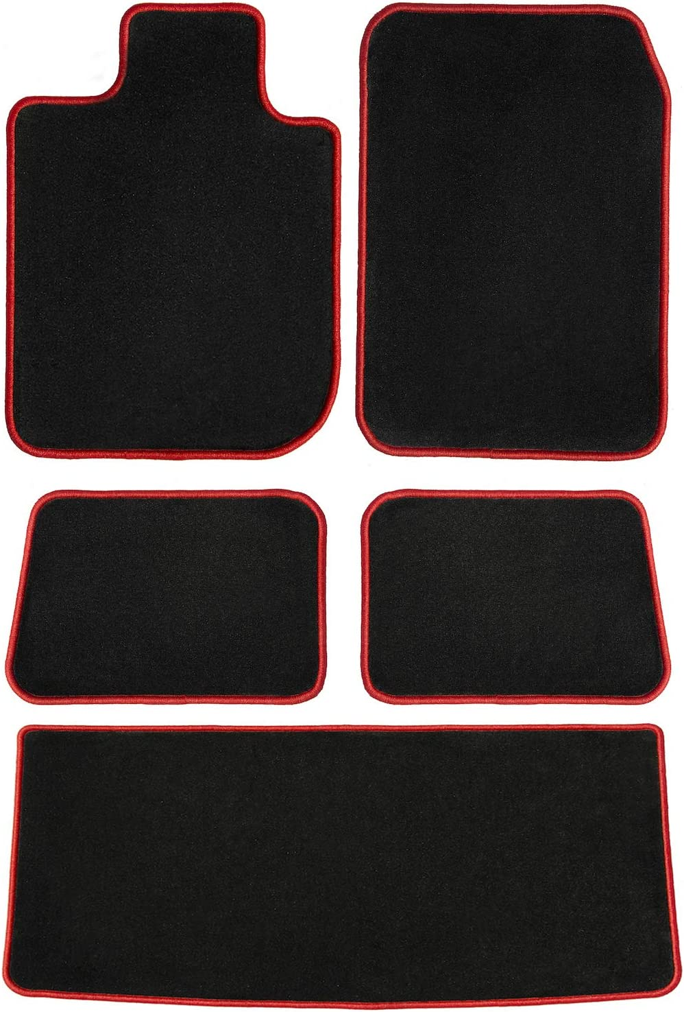 2010 to 2015 Vw Touran New Choice Of Black Rubber Tailored Car Floor Mats