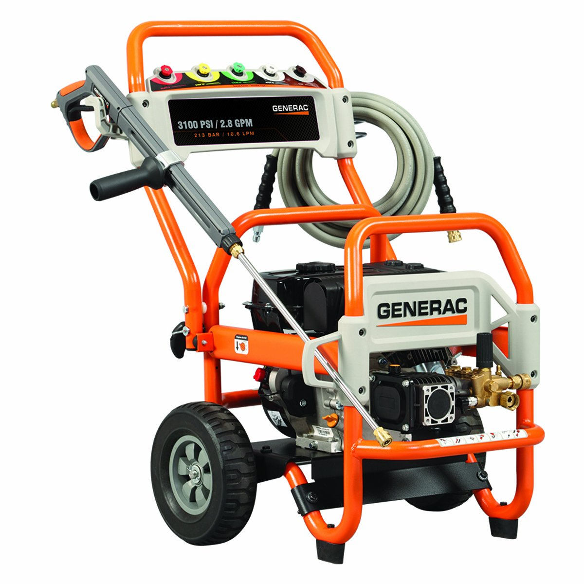 Amazon.com : Generac 5993 3, 100 PSI 2.8 GPM 212cc OHV Gas Powered Pressure  Washer (Discontinued by Manufacturer) : Garden & Outdoor