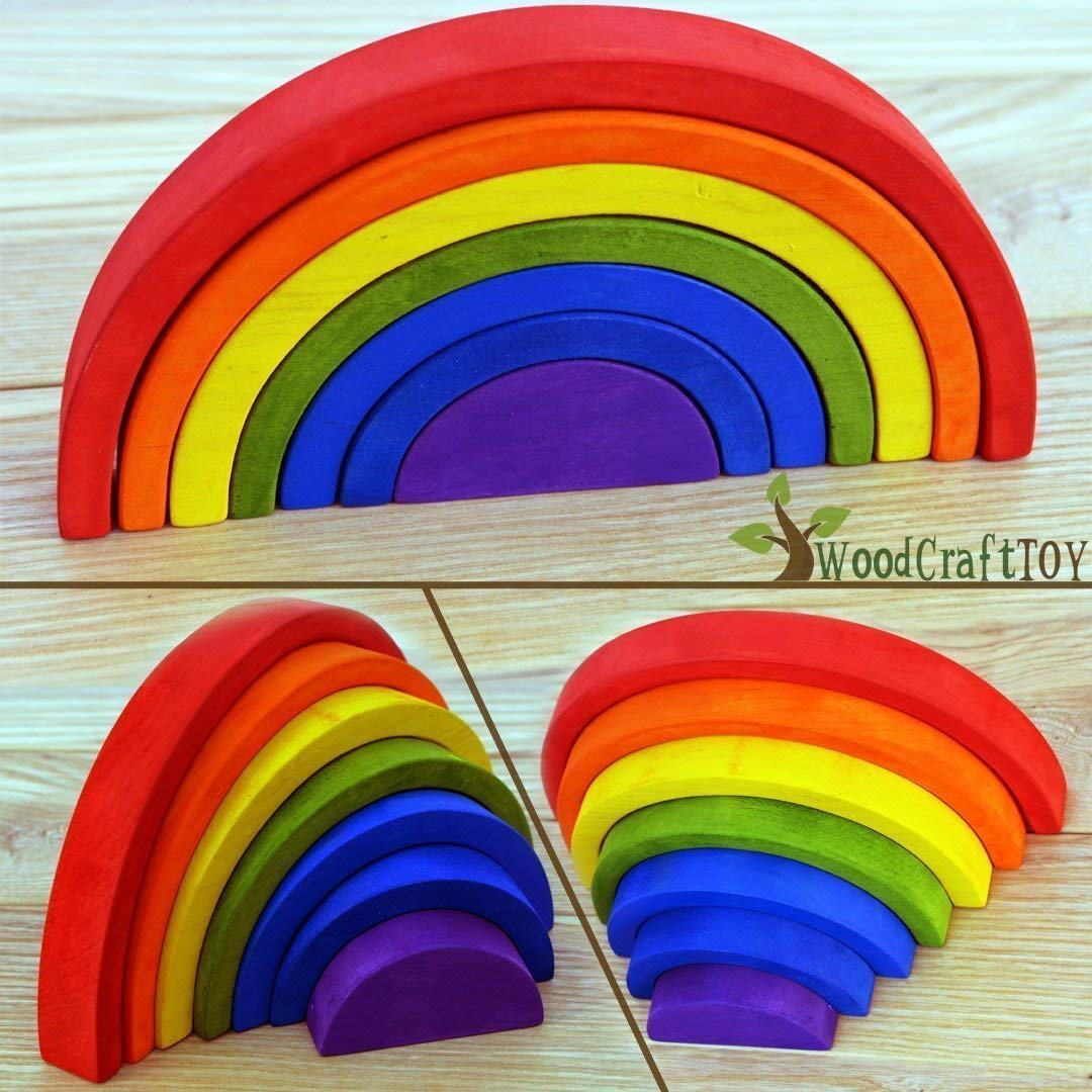 Wooden Rainbow the best Handmade eco friendly toy for babys
