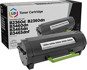 LD Compatible Toner Cartridge Replacement for Dell 331-9803 RGCN6 (Black)