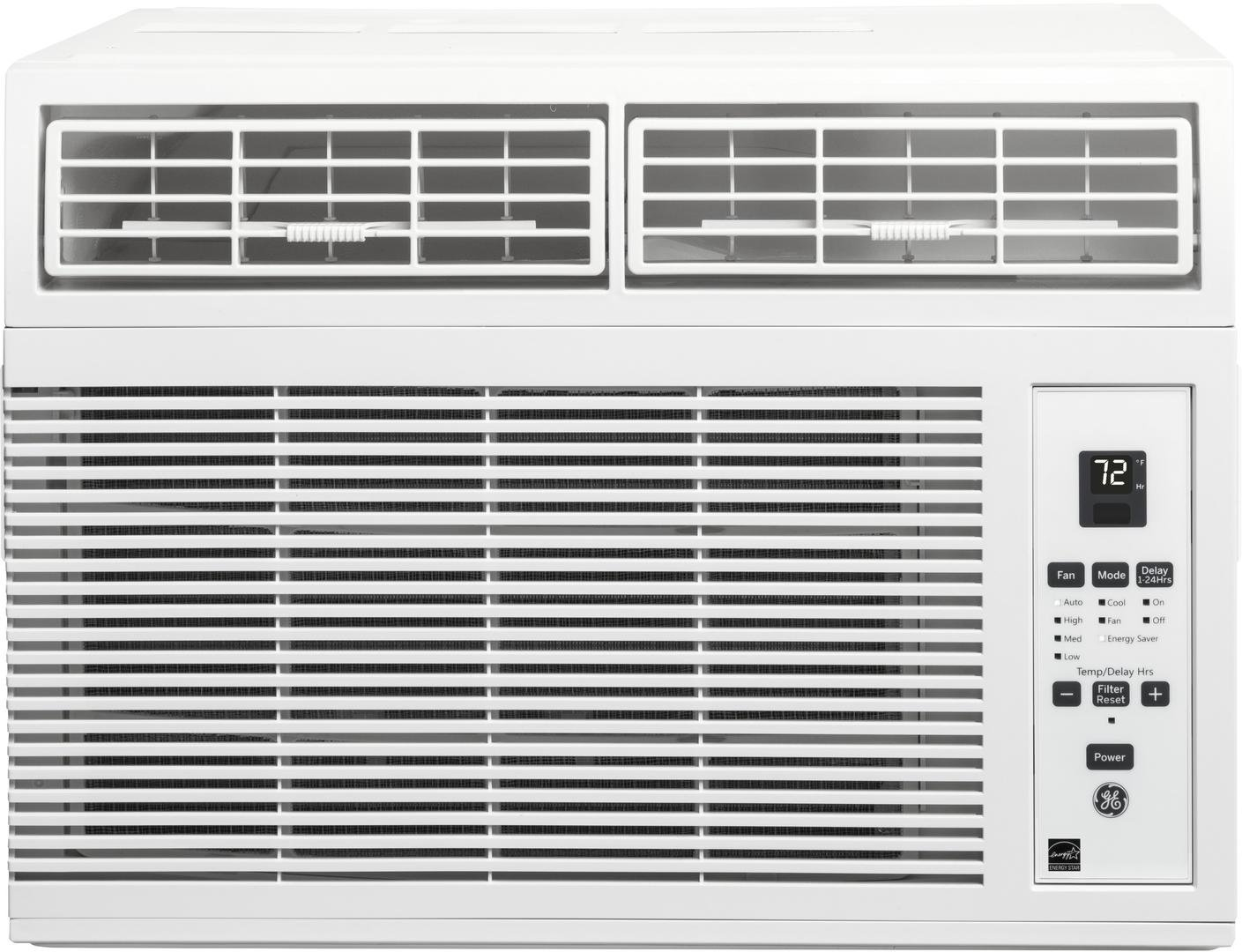 GE AHM06LY 19'' Energy Star Qualified Window Air Conditioner with 6000 BTU Cooling Capacity, in White by GE P