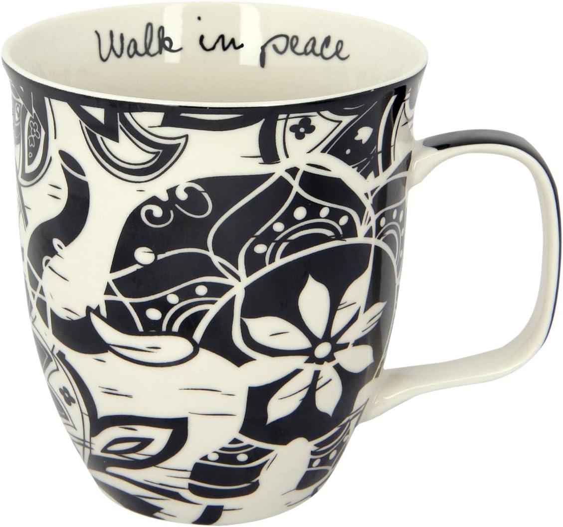 Karma Gifts Black and White Mug, 1 EA, Elephant