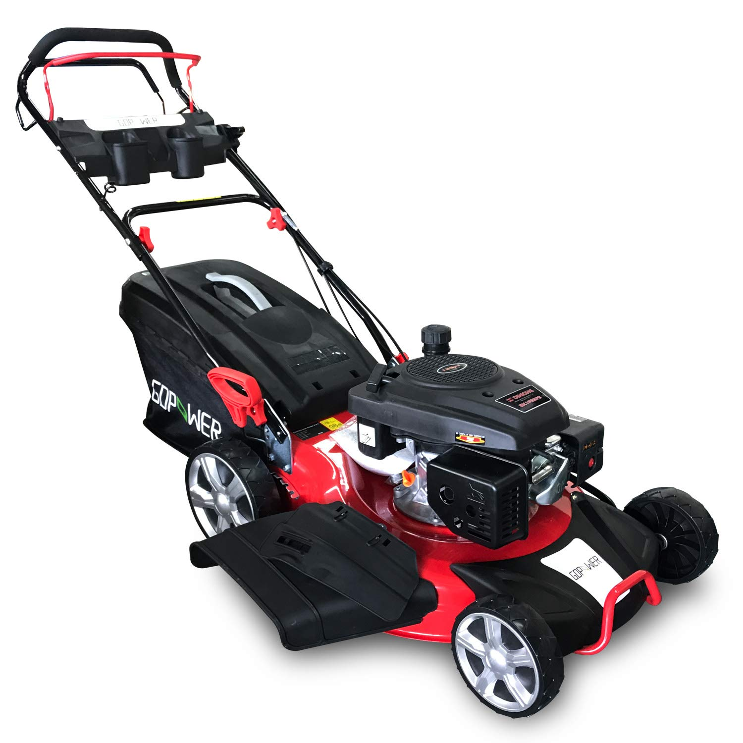 GDPOWER 150cc 4-in-1 Self-Propelled Gas Lawn Mower with 20-Inch Deck and Recoil Start System