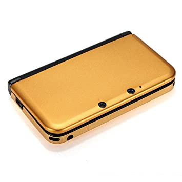 Homeking - Carcasa para Nintendo 3DS XL y LL (aluminio), color dorado