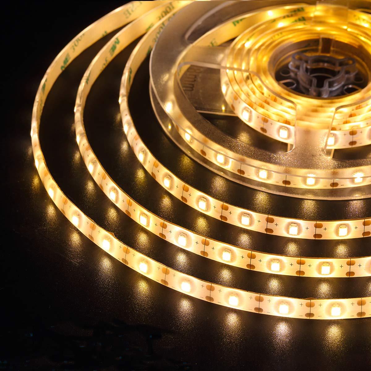 (2019 New) AMIR LED Strip Lights, 90 LED 9.84ft Flexible Solar Strip Lights, 8 Lighting Modes, Waterproof for Patio, Garden, Home, Wedding, Courtyard (Warm White)