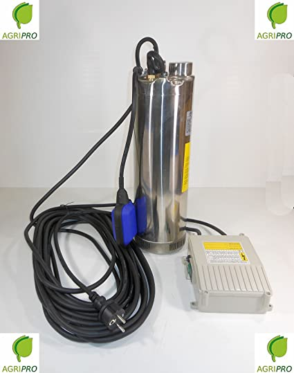 Eléctrico Bomba Bomba Bomba Sumergible HP 1,2 Acero Inoxidable con flotador para carcasa o