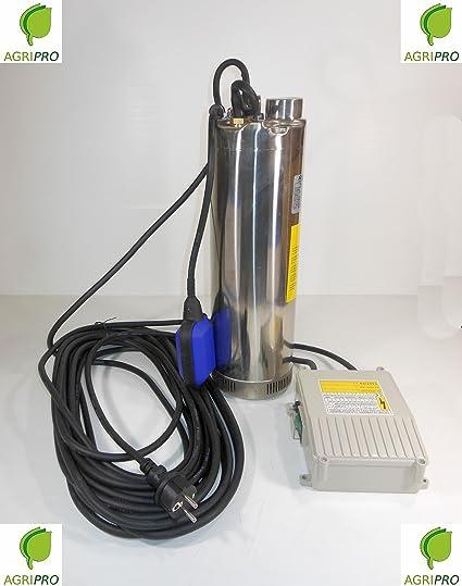 HP Bomba de agua Elettropompa inoxidable con 2 Flotador para depósito o pozo SERIE SQMBX 80