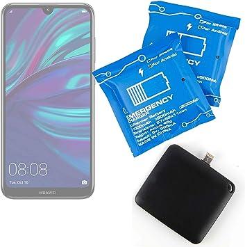 DURAGADGET Batería de Emergencia desechable para Smartphone Huawei Y7 (2019) 3 Unidades.: Amazon.es: Electrónica