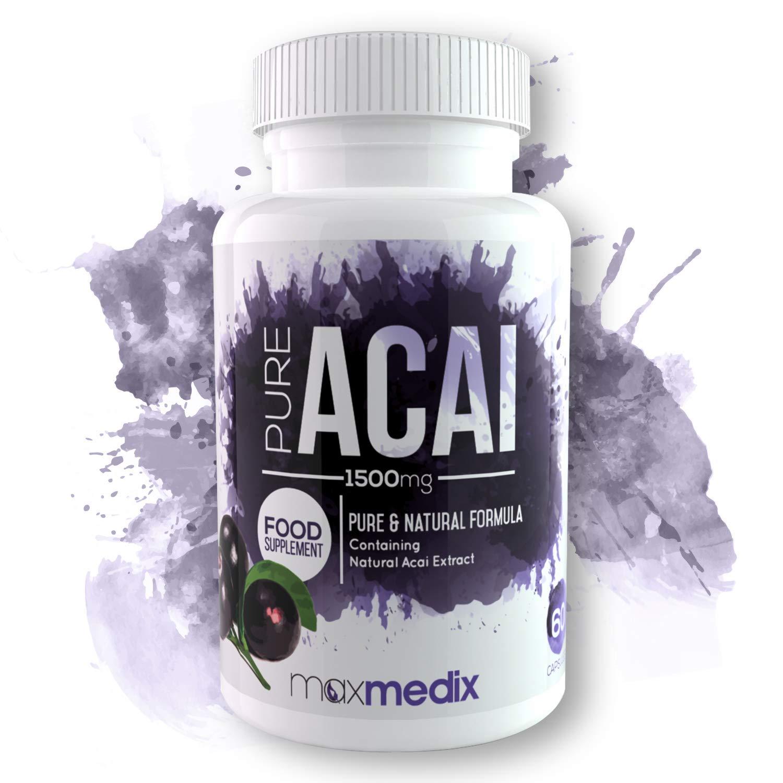 Pure Acai - Suplemento natural de Acai Berry - Mejora los niveles de energía y el sistema inmunitario con Açai