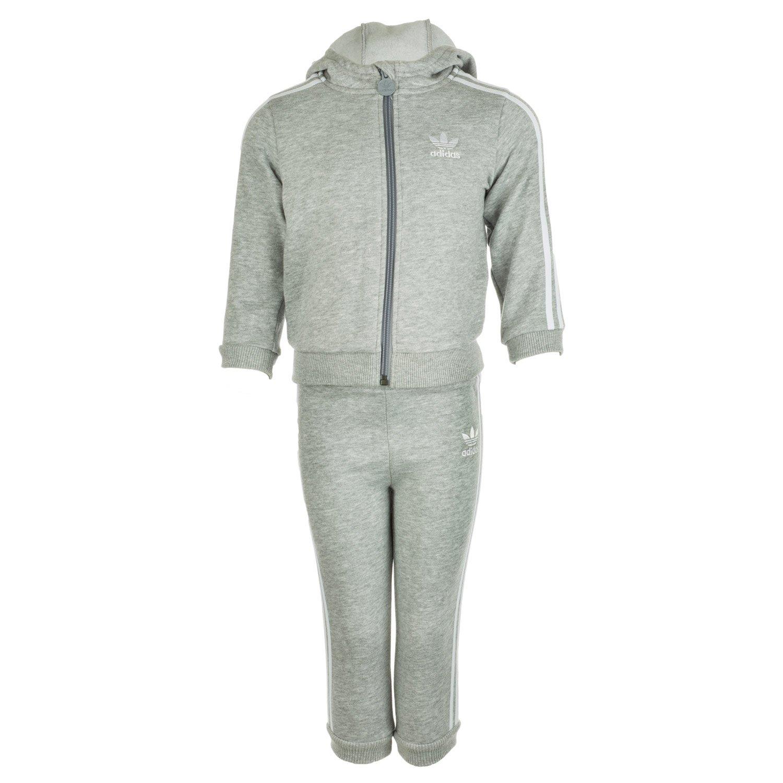 adidas Originals Chándal con capucha bebé (gris): Amazon.es: Ropa ...