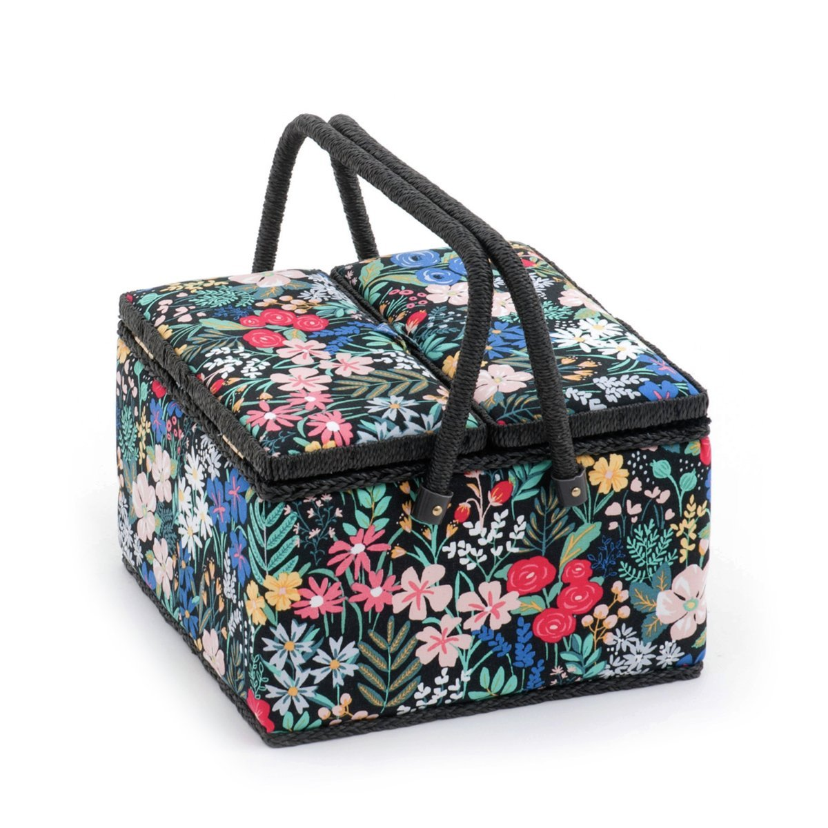Hobby Gift 'Summertime' Twin Lid Large Square Sewing Box 25 x 25 x 17cm (d/w/h) MRLTLE\274