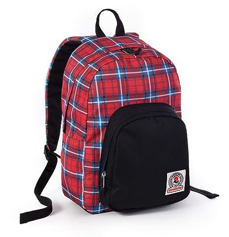 c0a5d3db5b ZAINO INVICTA - OLLIE PACK II - Scozzese Rosso fantasia - tasca porta pc  padded -
