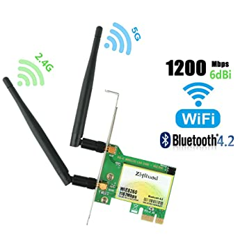 Amazon.com: Tarjeta WiFi PCIe, tarjeta inalámbrica ...