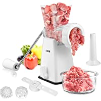 Manual Meat Grinder with Stainless Steel Blades Heavy Duty Powerful Suction Base for Home Use Fast and Effortless for…