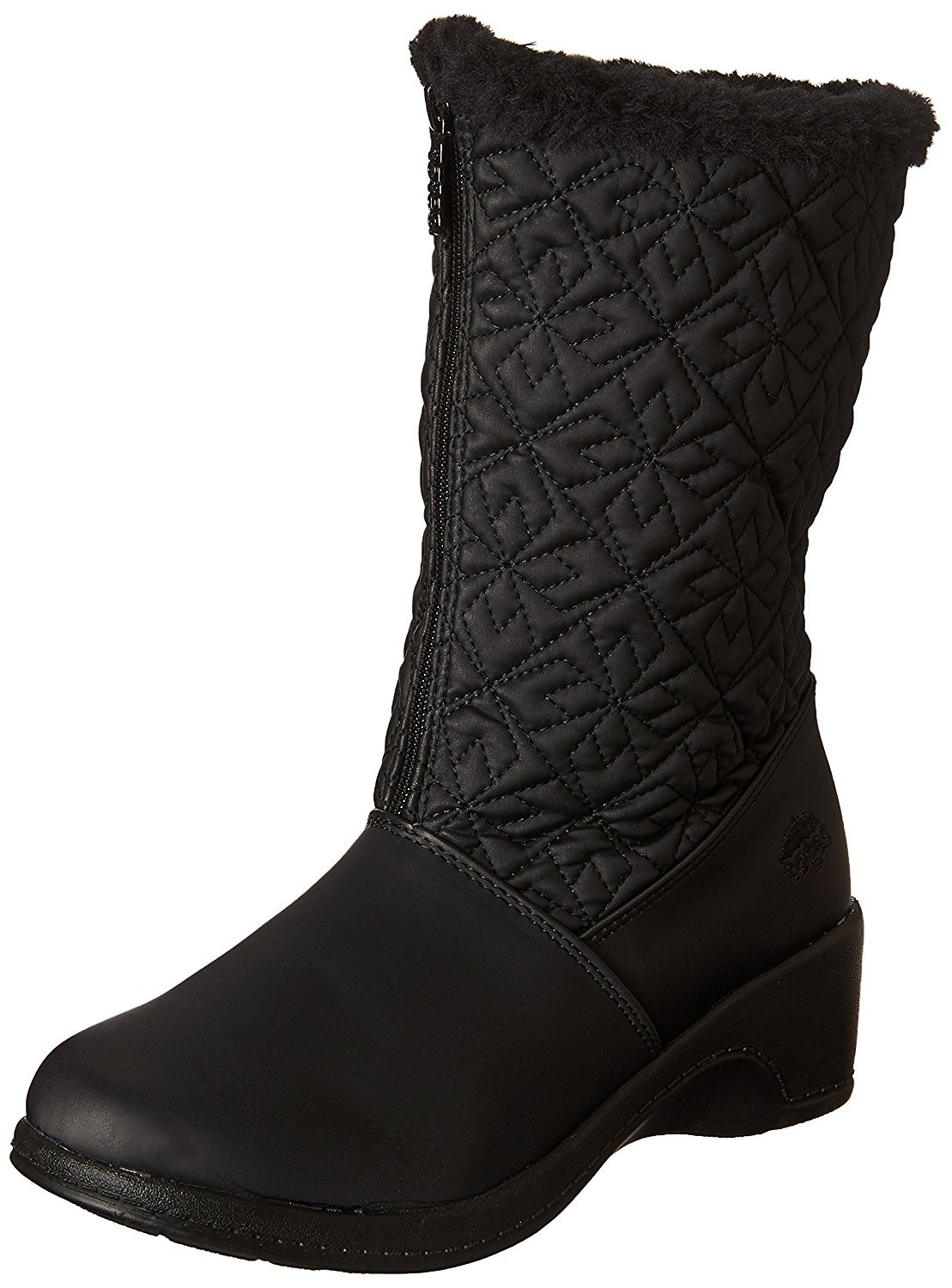 totes Women's Nancy Cold Weather Boot, Black, 6 M US
