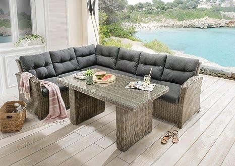Dreams4Home Lounge Sidney Muebles de Jardín con Acolchado ...