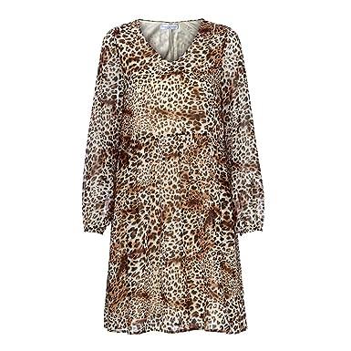 Amazon.com: CAVSDARR Vestido suelto de gasa para mujer ...