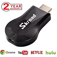 Wireless WiFi Display Dongle, Android System Support for Google Chrome, HDMI 1080P Digital TV Receiver Adapter, Home App Support Youtube,Netflix, TV Stick Miracast Airplay for Android/Mac/iPhone