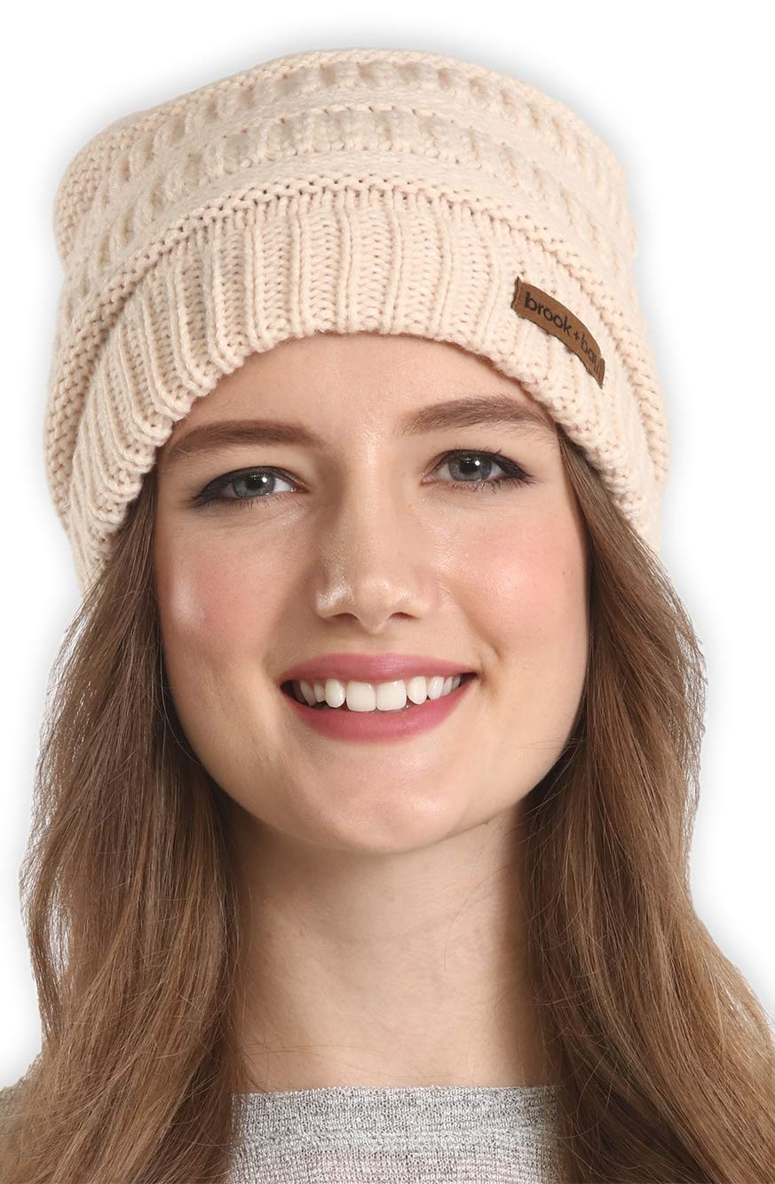 71e3133f Brook + Bay Cable Knit Multicolored Beanie - Stay Warm & Stylish - Thick,  Soft & Chunky Beanie Hats for Women & Men - Serious Beanies for Serious ...