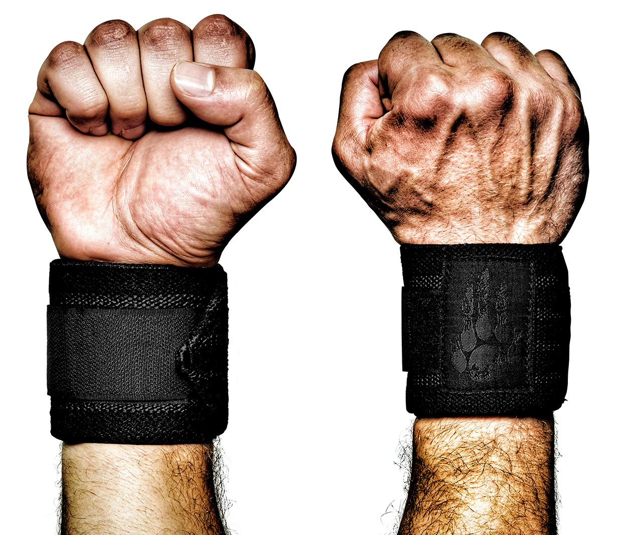 MANIMAL: The Best Weightlifting Straps with Superior Wrist Support, 1 Wrist Wraps Trusted by Professional Powerlifting, Strongman, Crossfit and Olympic Athletes - Night Stalker