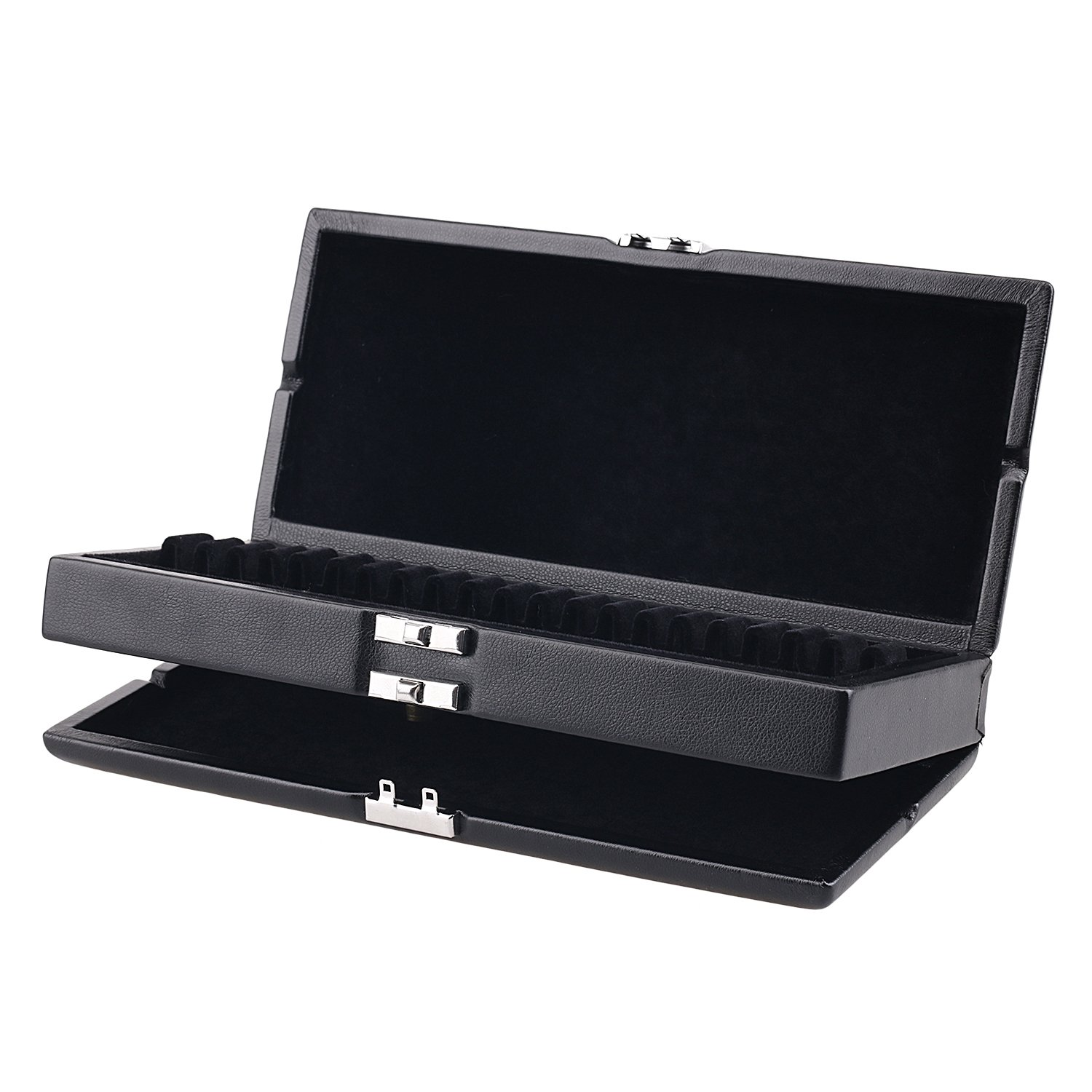 Oboe Reed Case Black PU Leather 2 Layers Reed Case for 40 Oboe Reeds Protect Against Moisture sunflower