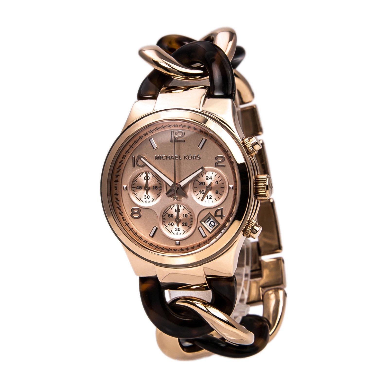 Michael Kors Women's 'Runway' Quartz Stainless Steel Watch, Color:Two Tone (Model: MK4269)
