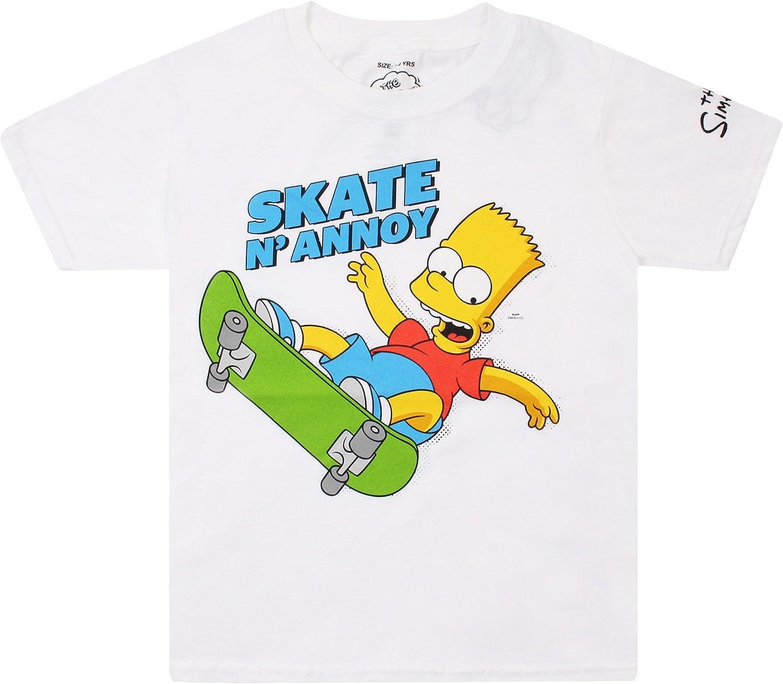 Simpsons Skate N Annoy Camiseta para Niñas: Amazon.es: Ropa y accesorios