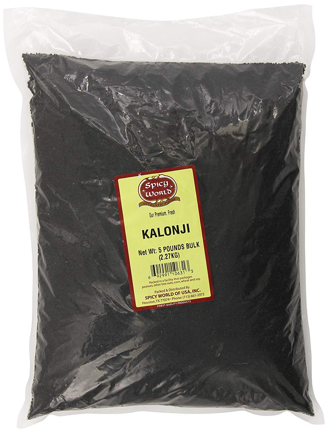 Spicy World Kalonji (Nigella Seeds) Bulk, 5-Pounds by Spicy World