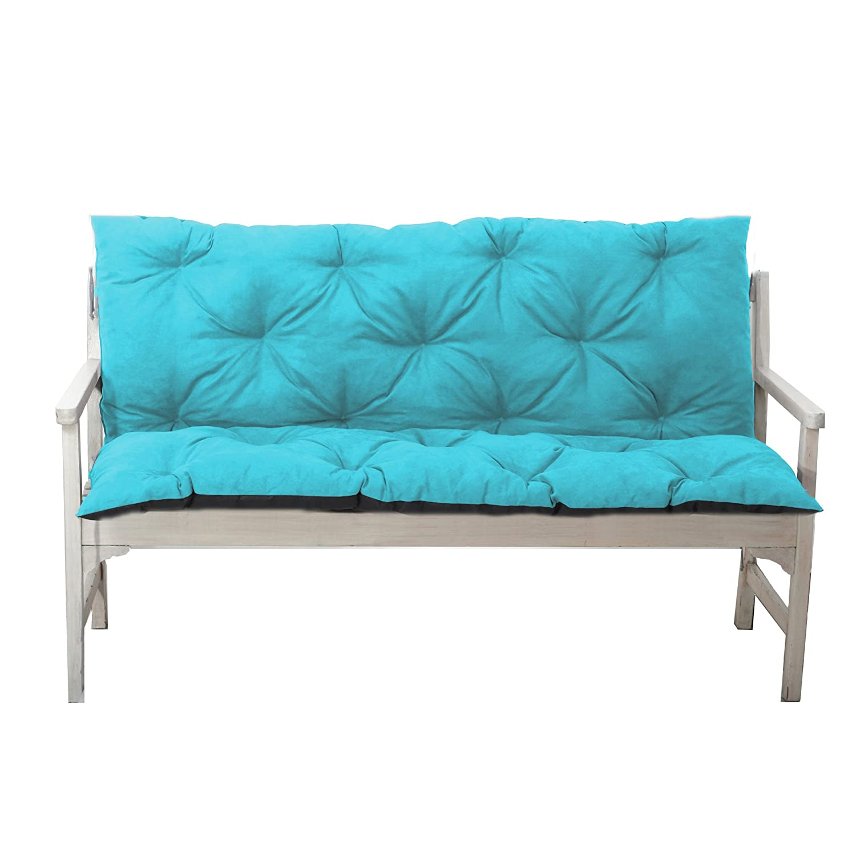 Gartenbankauflage Bankauflage Bankkissen Sitzkissen 120x60x50 cm 10 Farben