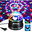 SOLMORE Disco Ball Sound Activated 7 Colors LED Stage Light
