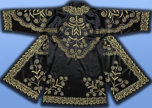 Amazon Com Uzbek Vintage Handmade Embroidery Suzani Robe Chapan Jacket Coat Birds T430 Handmade