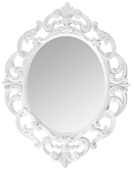 Amazon.com: Kole White Oval Vintage Wall Mirror: Home & Kitchen
